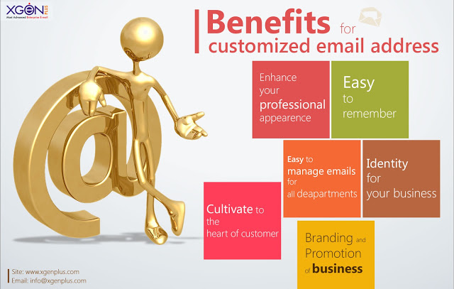 Benefits for customized email address